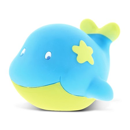 Dollibu Whale Rubber Bath Toy Squirter Blue Bath Buddy Fun Floater Animal Collection 2.75 Inch Affordable Gift for Babies Safe For All NO Age Restrictions Bath Time / Pool Toy