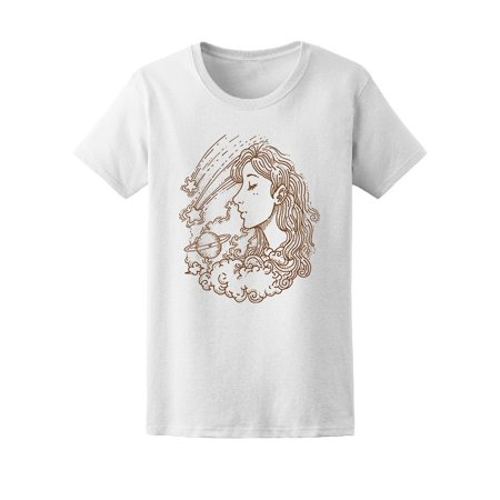 Girl Dreaming Of Planets Tee Women's -Image by Shutterstock ()