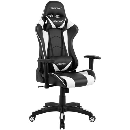 Prime Merax Ergonomic High Back Racing Gaming Chair White Uwap Interior Chair Design Uwaporg