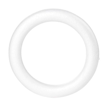 Craft Foam Wreath - 6-Pack Polystyrene Foam Ring for DIY Arts and Crafts, Floral Projects, Wedding and Home Decorations, 8 x 1.2 x 8 inches - image 2 de 6