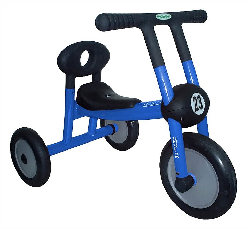 Child-Safe Blue Walker Tricycle w No Pedals For Ages 1 To 2