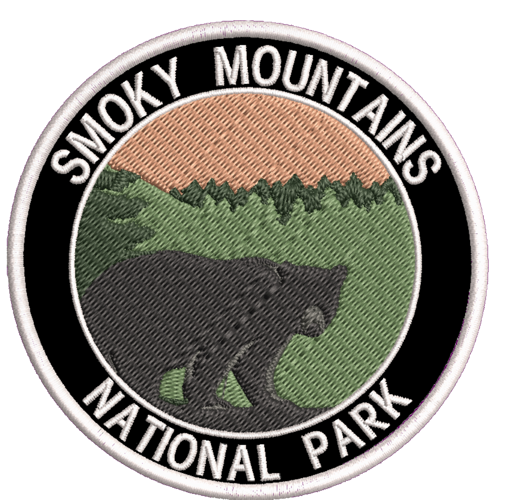 Vacation Tourist Souvenir Wildlife Adventure IronSewn Great Smoky Mountains Backpack Embroidered 3.5 Patch Explore More