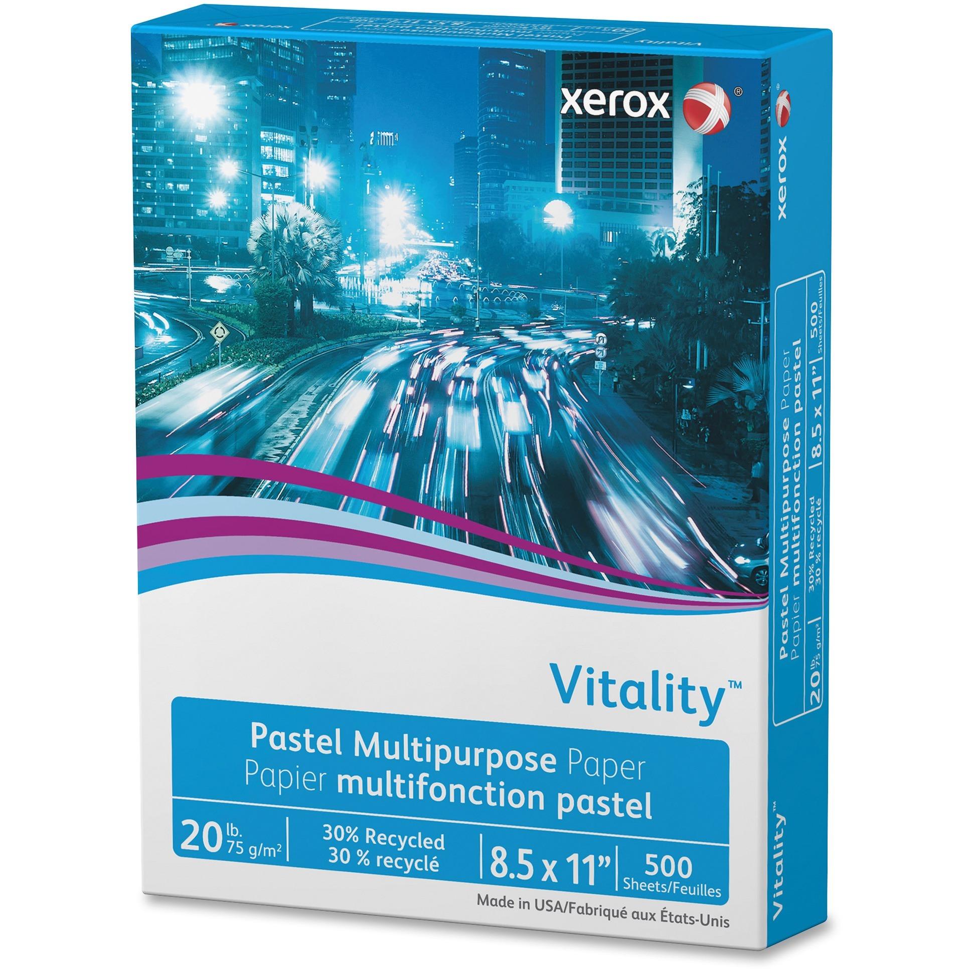 Xerox, XER3R11050, Vitality Multipurpose Pastel Paper, 500 / Ream, Blue