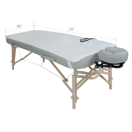 EARTHLITE Massage Table Warmer & Fleece Pad (2in1), 3 Heat Settings, 13ft Power Cord (New Improved Model) (Massage Table Warming Pad)