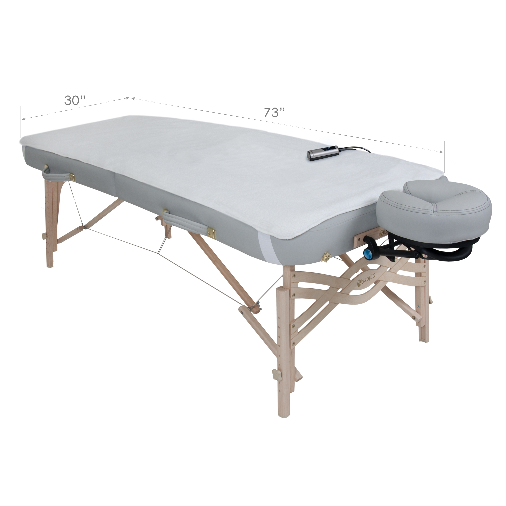 EARTHLITE Massage Table Warmer & Fleece Pad (2in1), 3 Heat Settings, 13ft Power Cord (New Improved Model)
