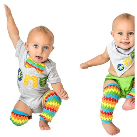 1st Baby Boys First Birthday Monsters Onesie Fun Outfit Set Bow Tie Shirt Colorful Yellow Cake Smash 5 Piece Set 12-18 months