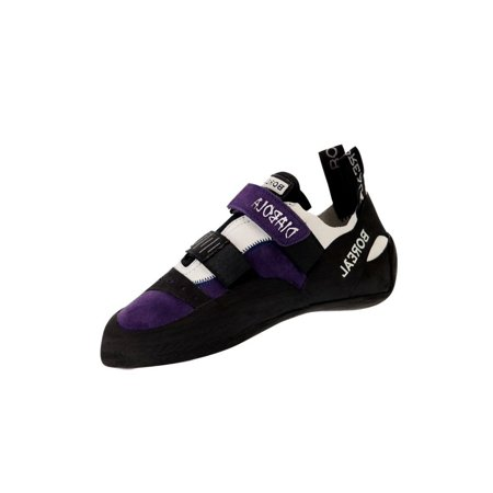 Boreal Climbing Shoes Womens Diabola Leather Black White Purple 11226