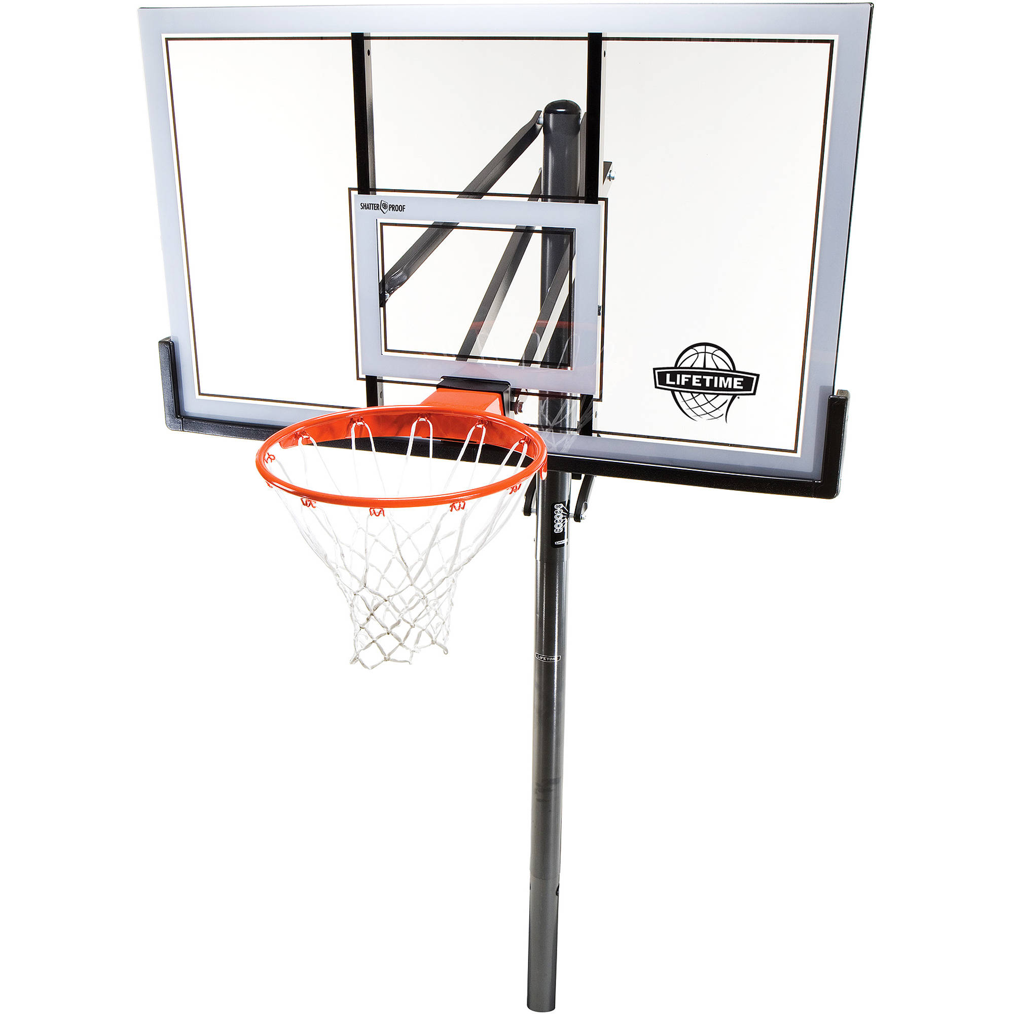"Lifetime 54"" Shatterproof In-Ground Infinate Height Adjustable Basketball System, 78888"