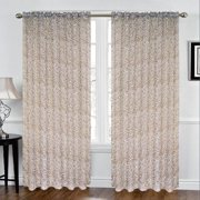 Kashi Home Animal Print Sheer Rod Pocket Single Curtain Panel