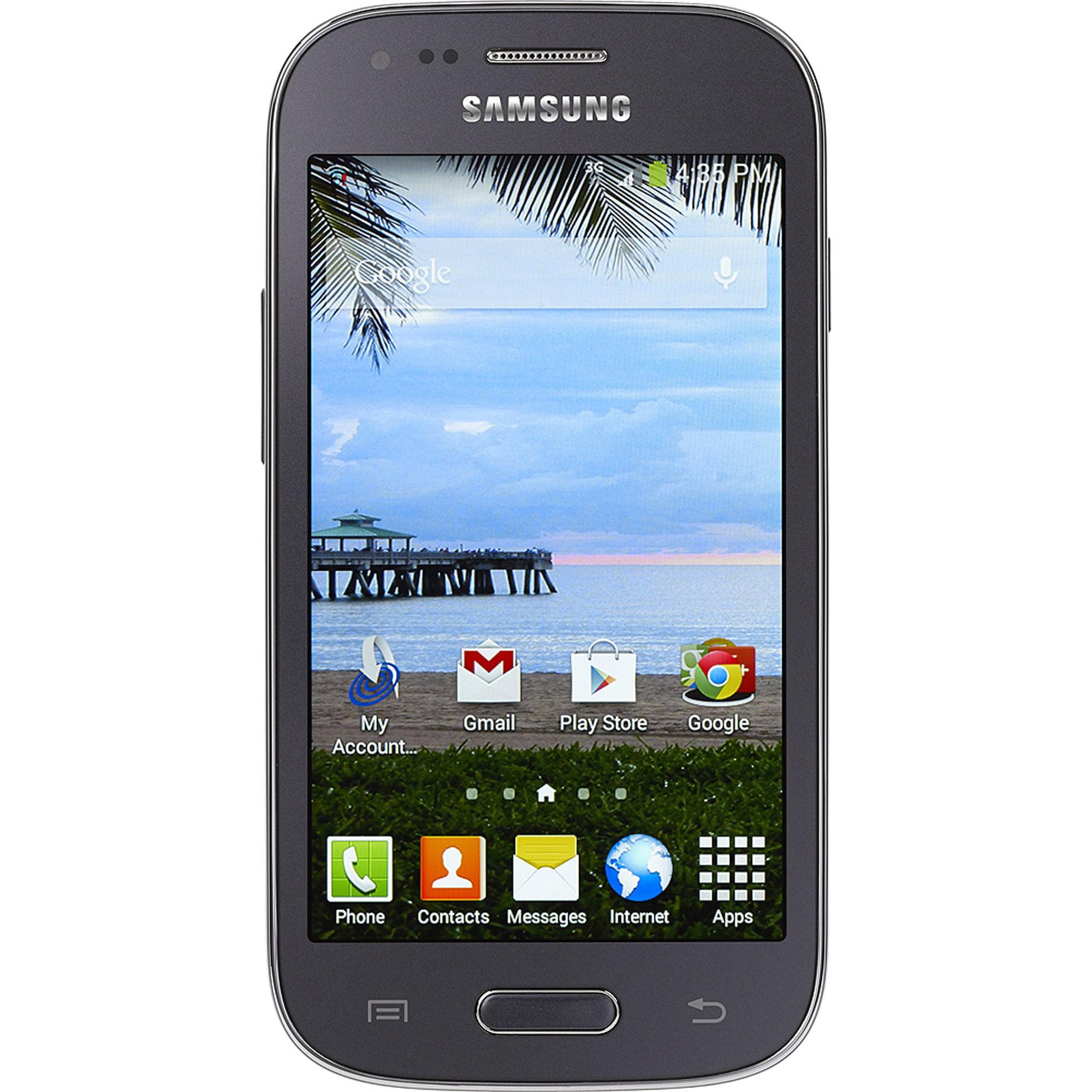 Straight Talk Samsung Galaxy Ace Style Android Refurbished Prepaid Smartphone w/ Bonus $45 30-Day Plan