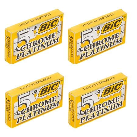 BIC Chrome Platinum Double Edge Safety Razor Blades, 20 Count + Cat Line Makeup Tutorial - Makeup Tutorial Halloween