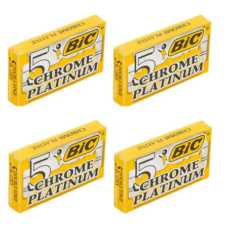 BIC Chrome Platinum Double Edge Safety Razor Blades, 20 Count - Razor Blades In Apples For Halloween