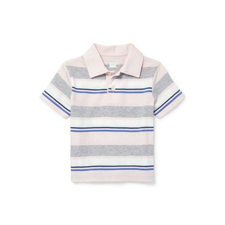 Short Sleeve Stripe Polo (Baby Boys & Toddler (Single Stripe Polo)