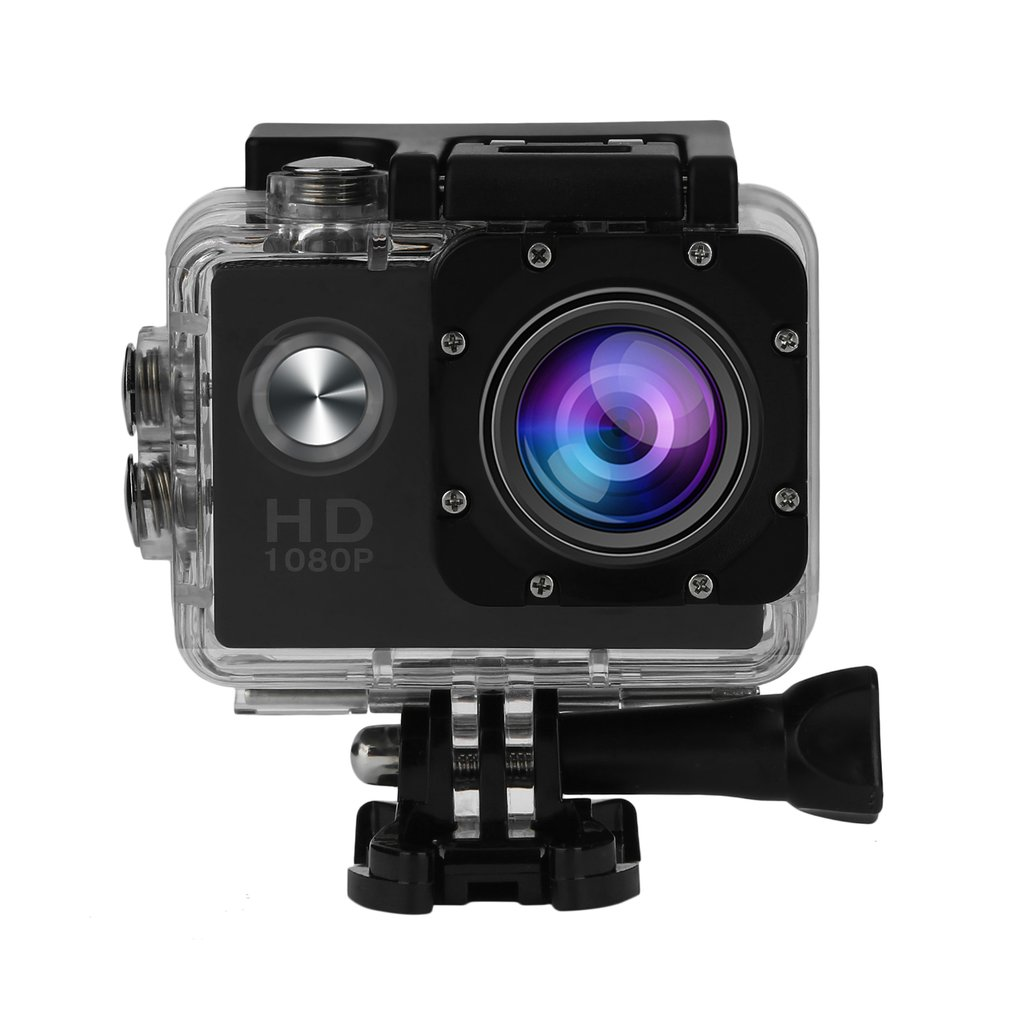 1080P Action Camera 30m Underwater Waterproof Camera Sports Cam Mounting Accessories Kit On Sale