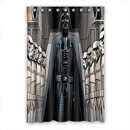 DEYOU Star Wars Shower Curtain Polyester Fabric Bathroom Size 48x72 Inch