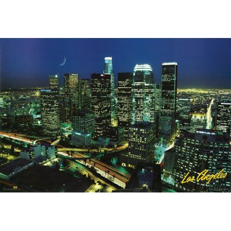 Los Angeles Poster Downtown Skyline New 24x36 - Party Supplies Downtown Los Angeles