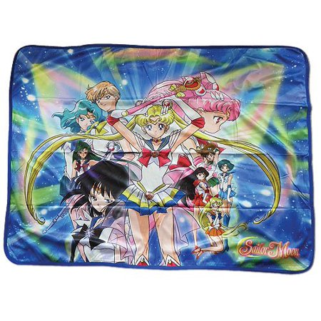 Sailor Moon S   Super Sailor Moon Group Sublimation Throw Blanket  Fully Licensed By Great Eastern Entertainment