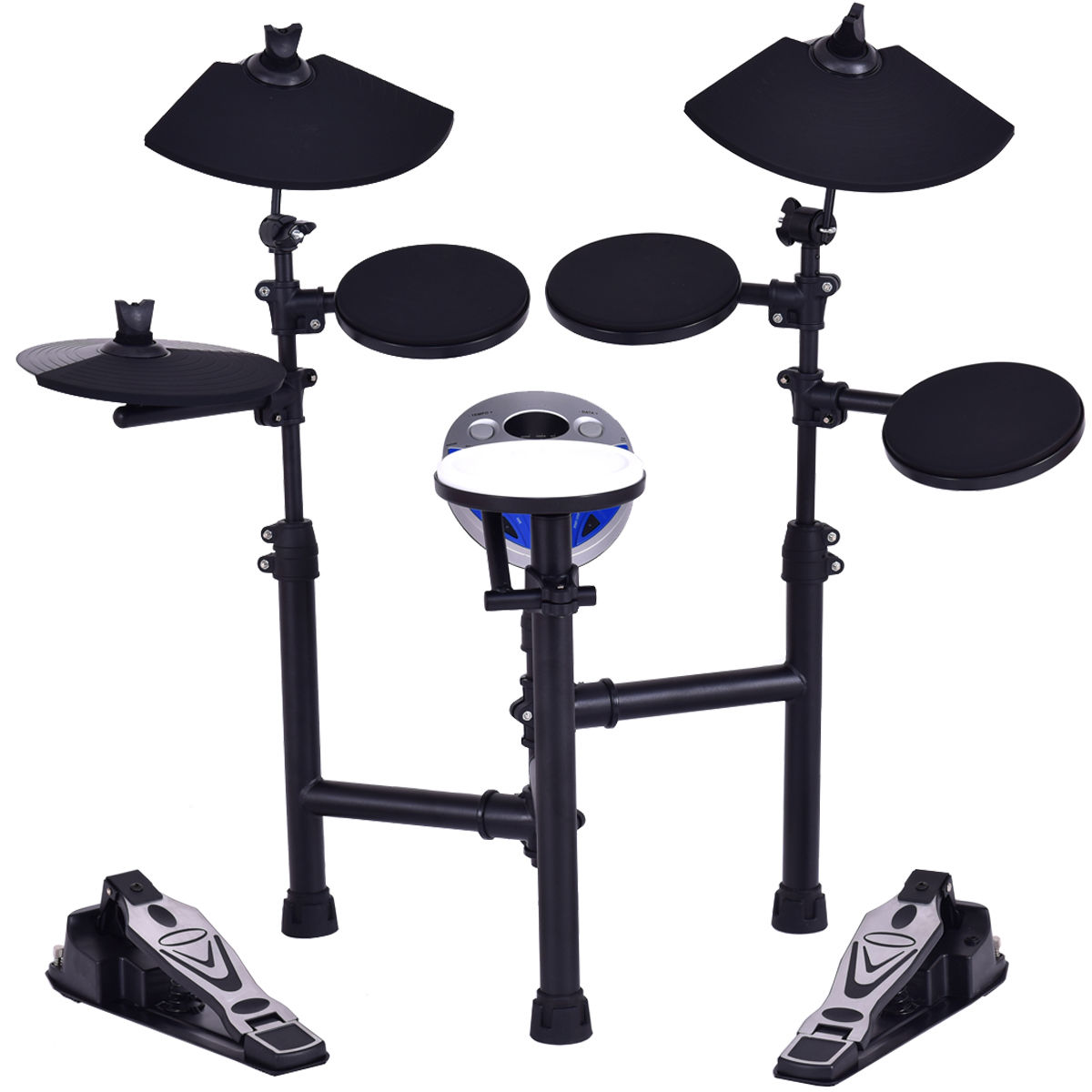 Gymax Electronic Drum Set Kit w/ 7.5'' Snare+ 7.5'' Toms+ 10'' Cymbal+ Drum Sticks