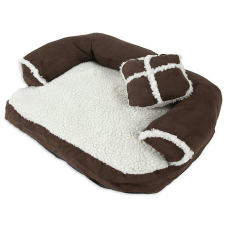 Aspen Pet Sofa with Pillow Dog Bed, Medium, Assorted Color