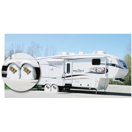 Florida Tire Shade - Central Florida RV Tire Shade with Golden Knights Logo White Size: D10 - 30.75 x 10 Inch