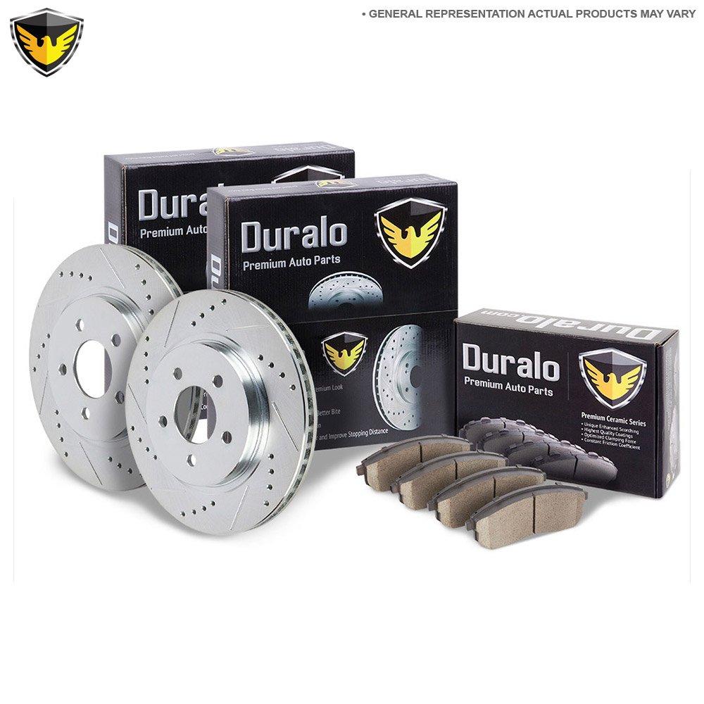 Duralo Front Brake Pad Rotor Kit For Honda Pilot 2003 2004 2005 2006 2007  2008
