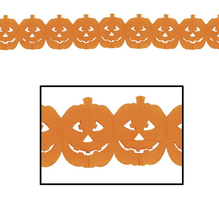 Club Pack of 12 Halloween Jack-O-Lantern Party Garland 12'](Club Eden Halloween Party)