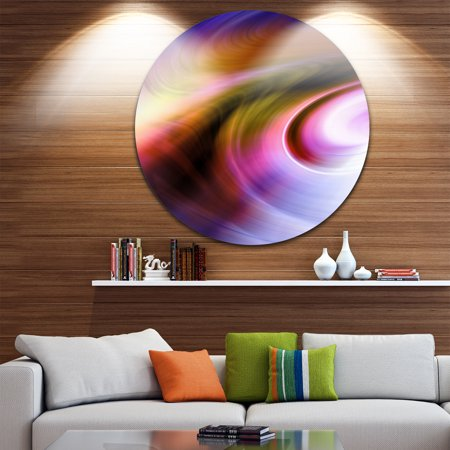 - DESIGN ART Designart 'Curved Texture of Colors' Abstract Digital Large Disc Metal Wall art