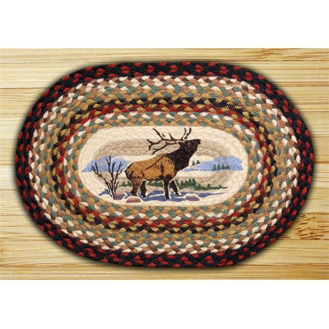 Earth Rugs 48-319WE Winter Elk Oval Placemat