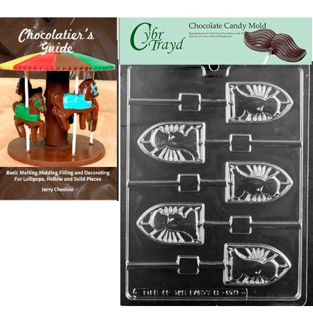 Boy Communion Silouette Lolly Chocolate Candy Mold with Our Chocolatier's Guide Instructions - Halloween Silouettes