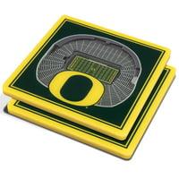 Oregon Ducks 3D StadiumViews Coasters - Green - No Size