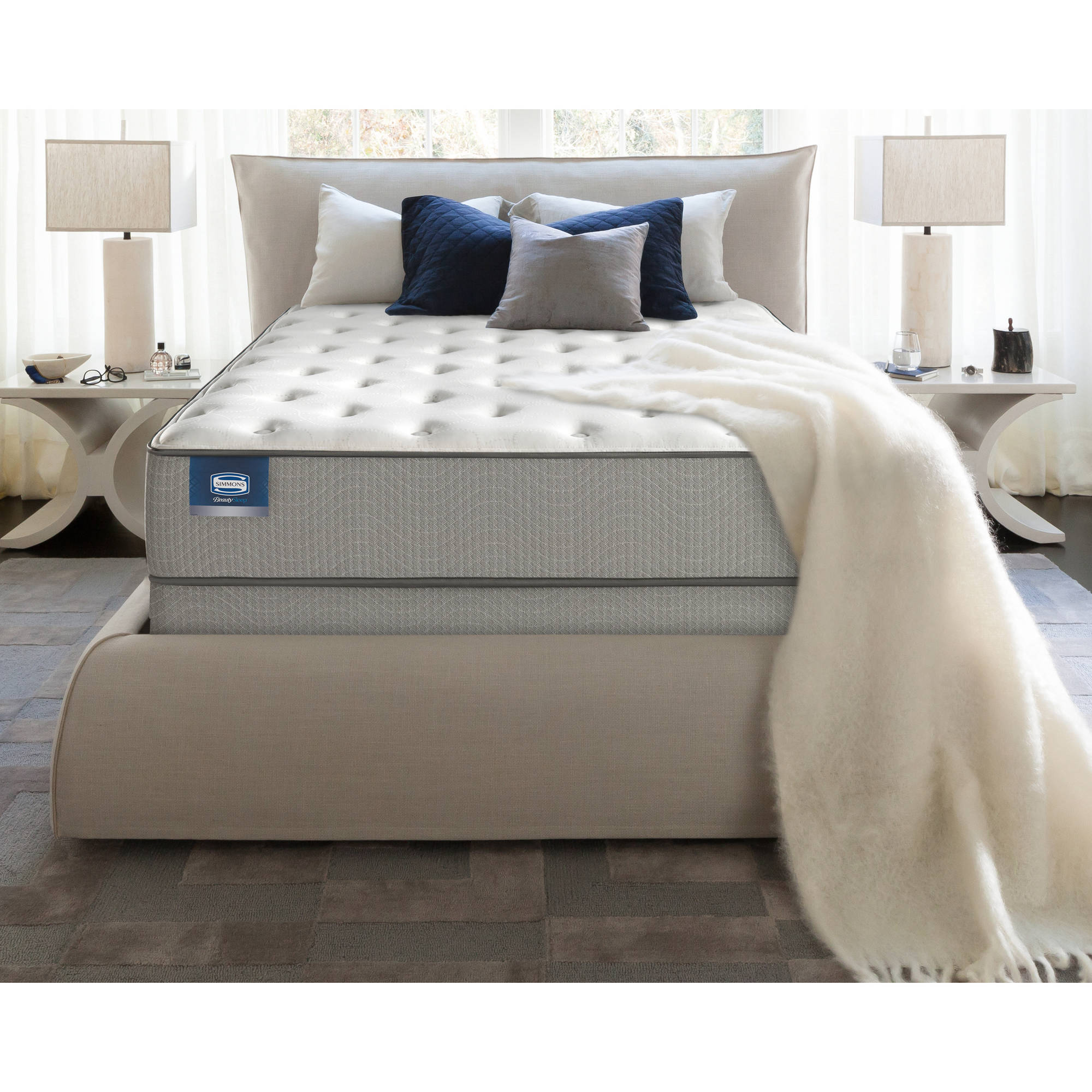 "BeautySleep Apricot 14"" Plush Mattress, Multiple Sizes"