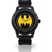 Men's Batman Watch, Rubber All-Black Bullet Band