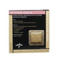 "Medline Optifoam Gentle Foam Dressings with Silicone Adhesive Border, 6"" x 6"", 1 Each"