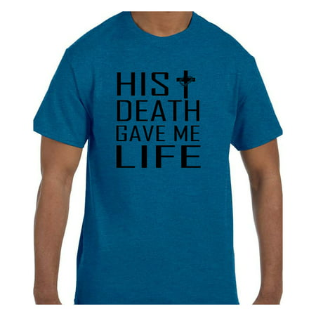 True City Life Christian Religous Tshirt Cross His Death Gave Me Life