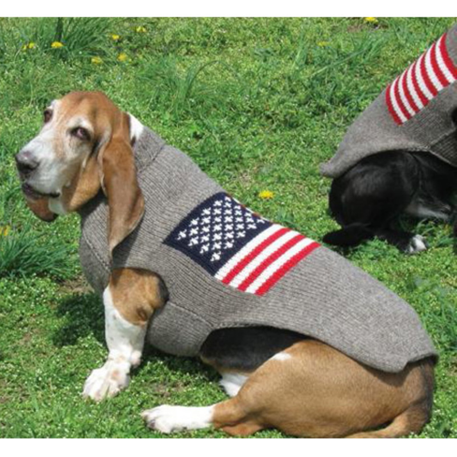 Chilly Dog American Flag Dog Sweater