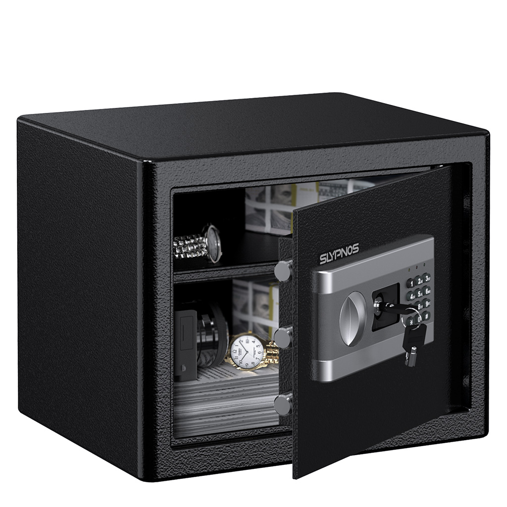 Digital Security Lock Box Steel Fire Theft Gun Proof Safe Cash Jewelry Valuable