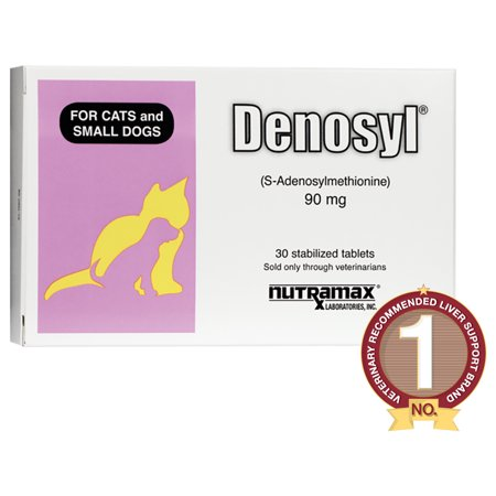 Nutramax Denosyl Liver Health Supplement for Cats & Small Dogs, 30 Tablets Critical Liver Care