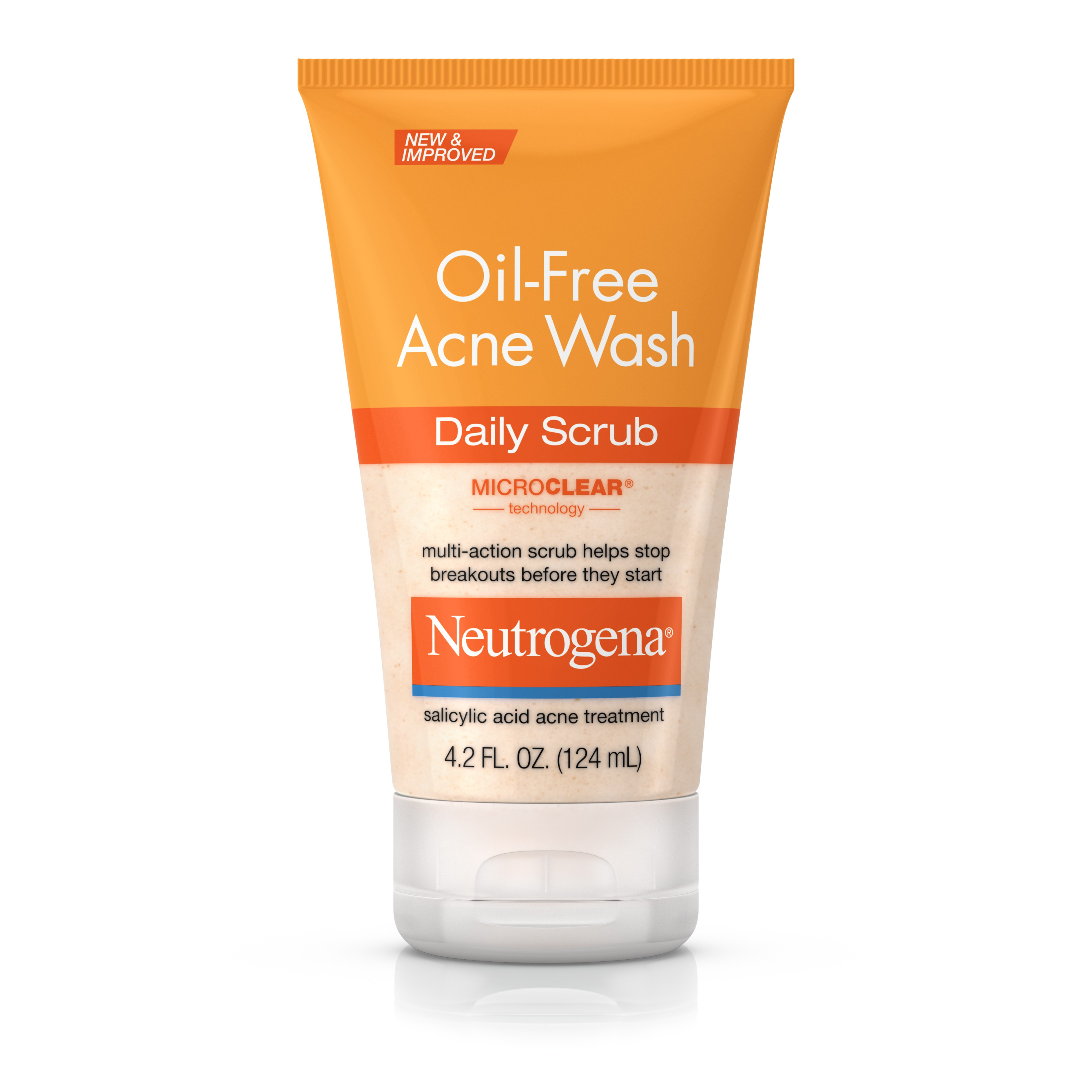 Neutrogena Oil-Free Acne Face Wash Daily Face Scrub, 4.2 fl. oz