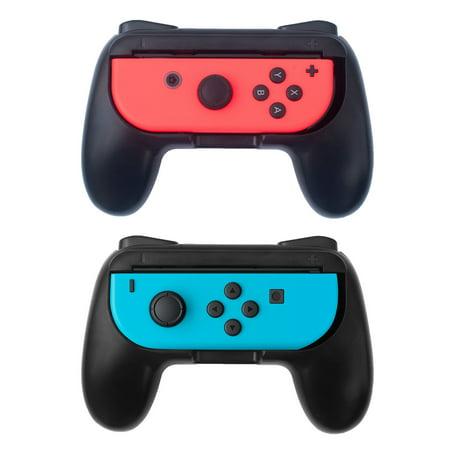 Insten 2-pack Black Joy-Con Lightweight Slim Anti Slip Case Cover Protective Controller Grip for Nintendo (Protective Anti Slip)