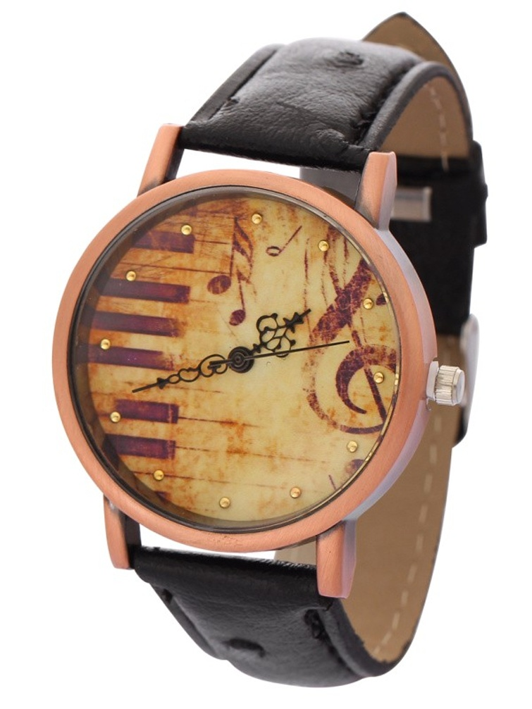 Piano Musical Note Symbol Antique Style Design Man Woman Watch-347