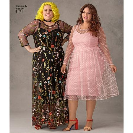Simplicity Misses\' Plus Size 26W-34W Dresses Pattern, 1 Each ...