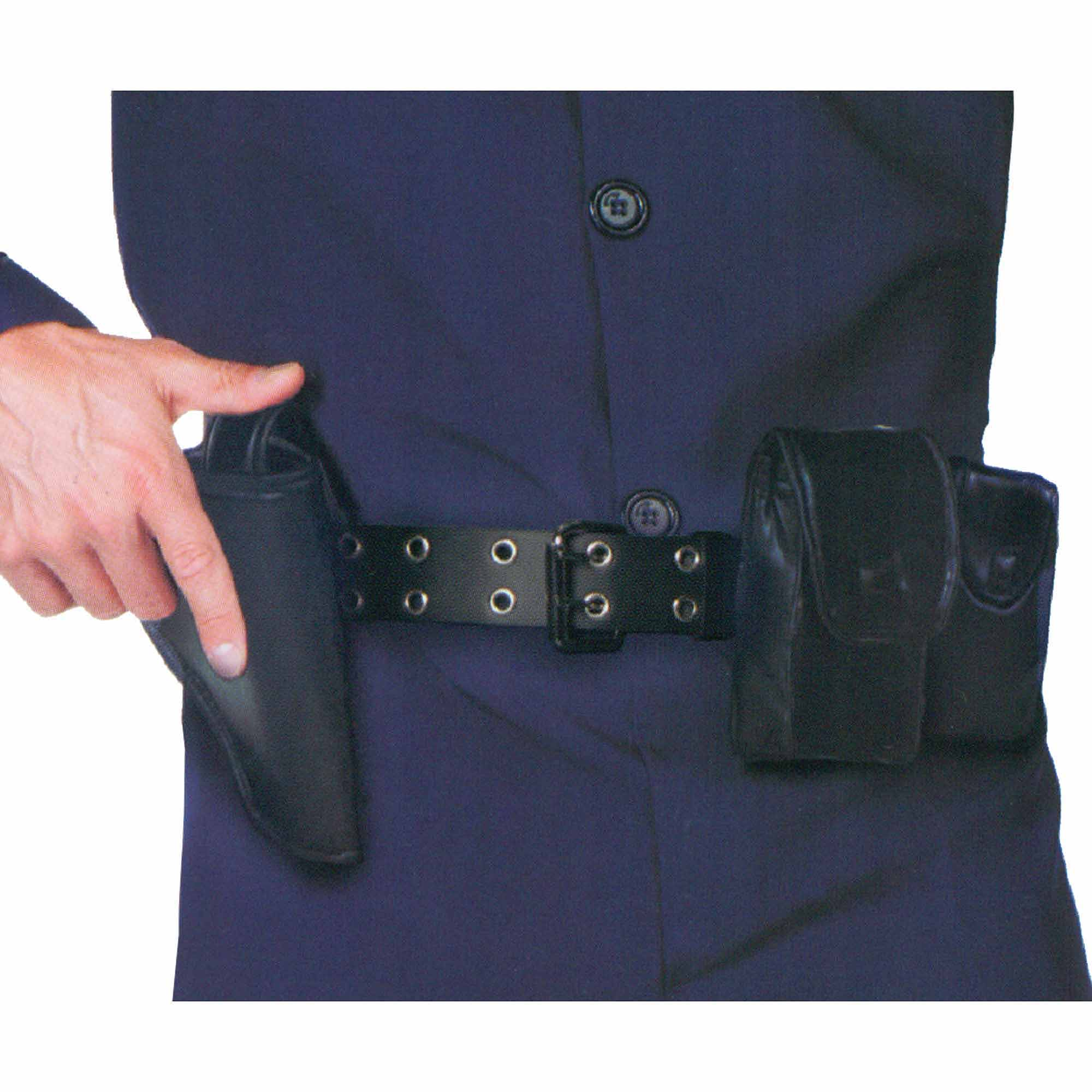 Vintage Black Nylon Police Man Belt