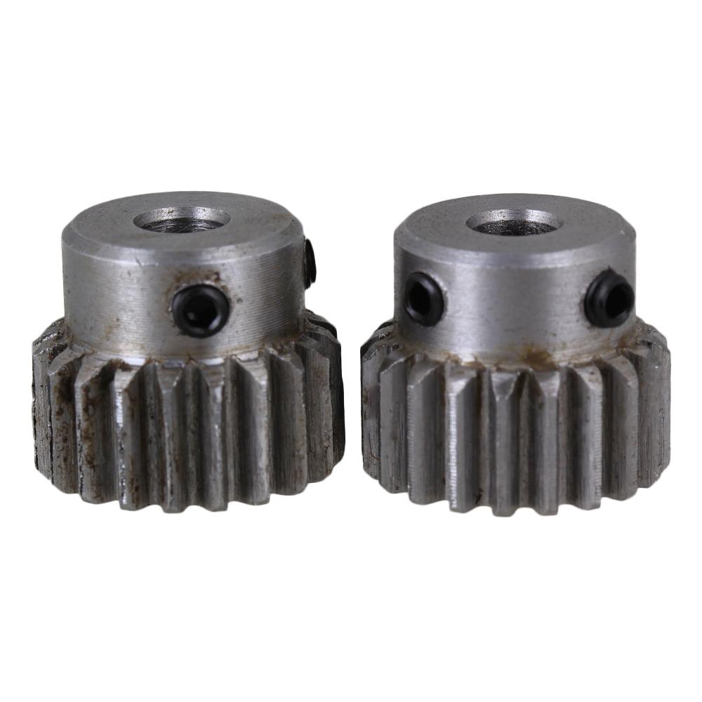 BQLZR 6mm Hole Diameter Silver 20 Teeth Motor Metal 45 Steel Gear Wheel 1 Modulus with Top... by