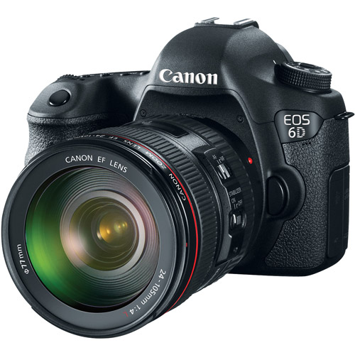 Canon Black EOS 6D Digital SLR Camera with 20.2 Megapixels and EF 24-105mm IS Lens Kit Included