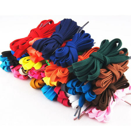 12 Pairs of Replacement Flat Shoelaces Shoe Laces Strings for Sports Shoes /Boots /Sneakers /Skates (Assorted Colors) (Flat Shoe Laces Nike)