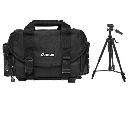 Canon 2400 Digital SLR Camera Case Gadget Bag + Tripod Kit for EOS 6D, 70D, 7D, 5DS, 5D Mark II III, Rebel T3, T3i, T5, T5i, T6i, T6s, SL1 DSLR