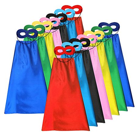 Diy Halloween Costume Tumblr (ADJOY Superhero Capes and Masks for Kids Bulk - DIY Children Capes for Birthday Party -)