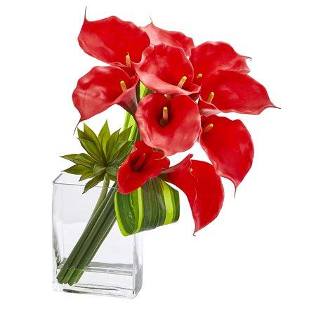 20'' Calla Lily & Succulent Bouquet Artificial Arrangement Silk Arrangements