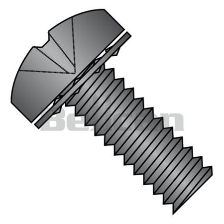 Shorpioen 1108IPPB No.10-32 x 0.5 Phillips Pan Internal Sems Fully Threaded Machine Screw, Black Oxide - Box of 5000 - image 1 de 1