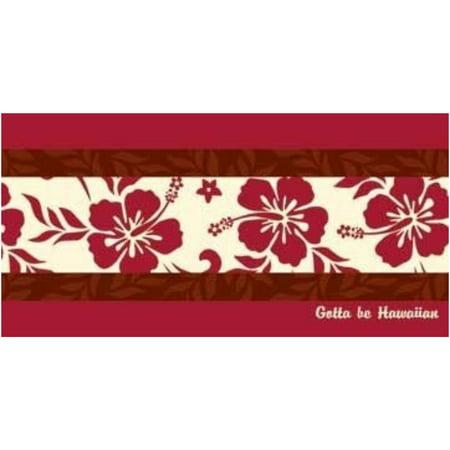 Gotta Be Hawaiian Red Hibiscus Design Beach Towel, 1 Each - Red Beach